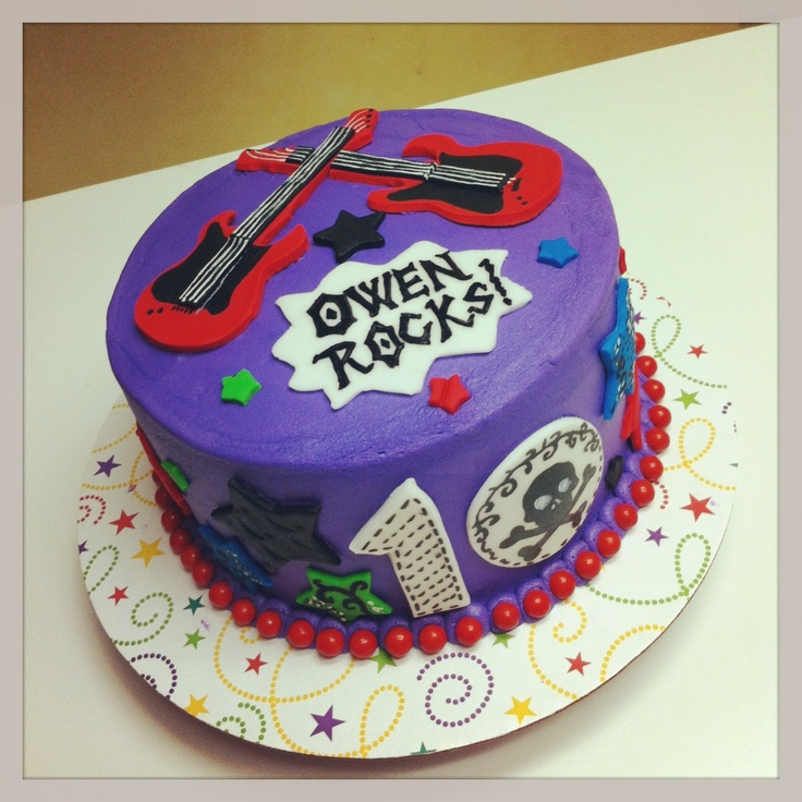 Rock And Roll Birthday Cake Ideas N 10th