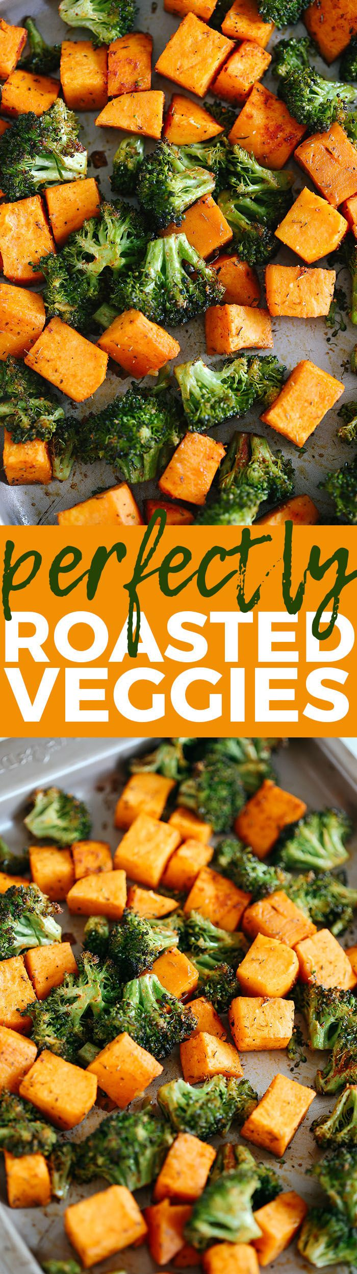 These Perfectly Roasted Broccoli and Sweet Potatoes make a delicious healthy side dish and are seasoned to perfection! #whole30