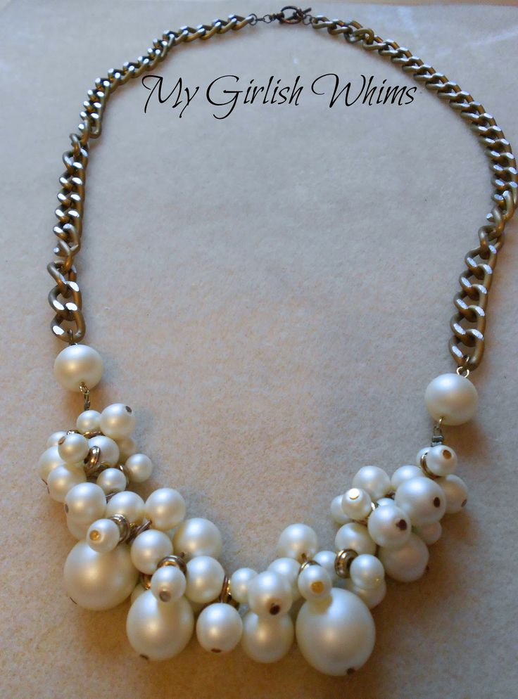 DIY Pearl Cluster Chain Necklace | My Girlish Whims