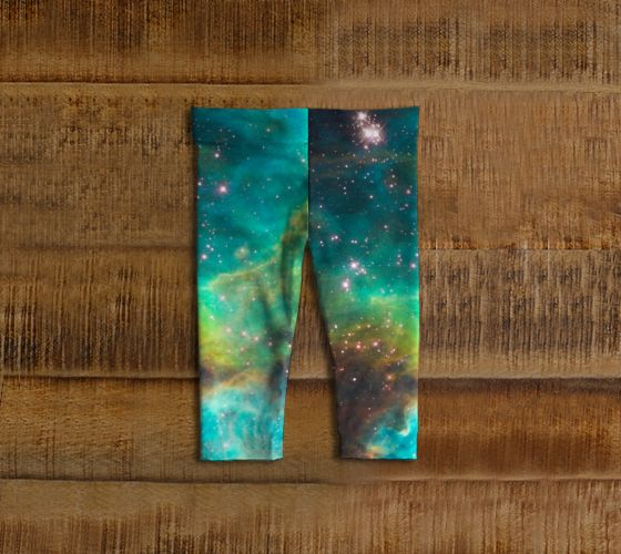 Green Galaxy Baby Leggings - Available Here: http://artofwhere.com/shop/product/73073