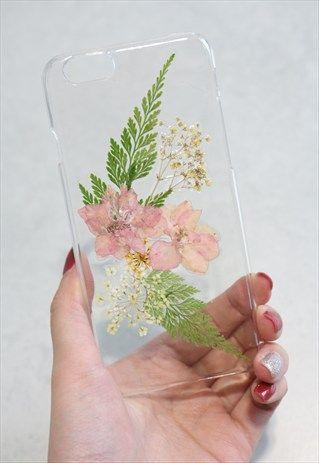 Handmade Real Pressed Flowers Phone Case | DIY I Love