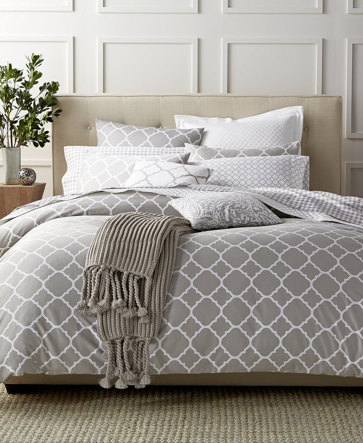 Charter Club Damask Designs Geometric Dove King Duvet Set, Only at Macy's - Duvet Covers - Bed & Bath - Macy's