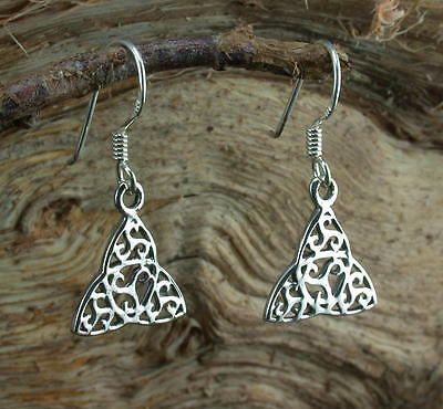 keltisches Triskele im Dreieck Kelten Ohrringe Hänger 925 Silber matt o. poliert
