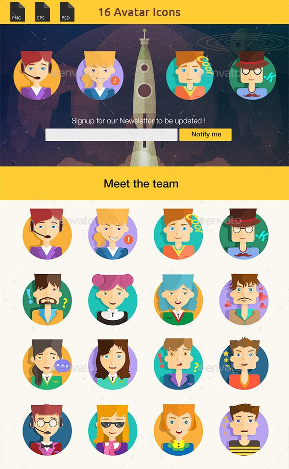 Flat Avatars With a Modern Look