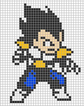 Vegeta - Dragon Ball perler bead pattern