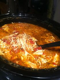 """River North Paleo Girl: """"Creamy"""" Crockpot Chicken and Tomato Soup -- Healthy, easy, and yummy!!  I'M IN!  (Now I just have to use my slow cooker for THE FIRST TIME :-o -- and this might be the recipe to break it in :-D)"""