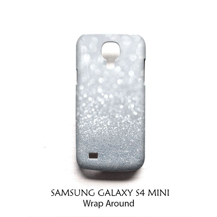 Grey Sparkle Glitter Samsung Galaxy S4 Mini Case Wrap Around
