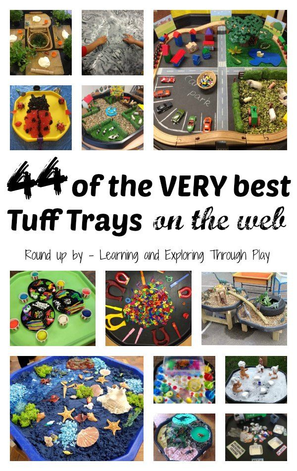 Tuff Tray ideas for Preschool Learning and Exploring Through Play
