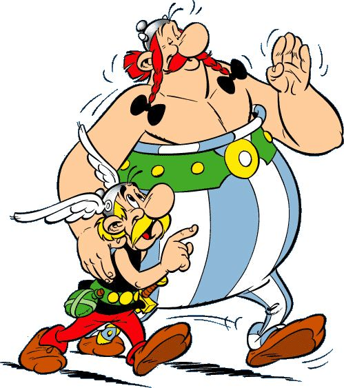 Asterix and Obelix.