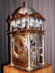 Replica of a 1598 musical clock by Nicholas Vallin, that plays its music on 13 bells