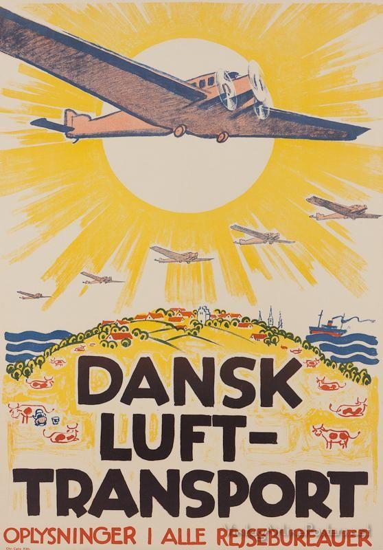 Vintage style travel poster - Europe - Denmark