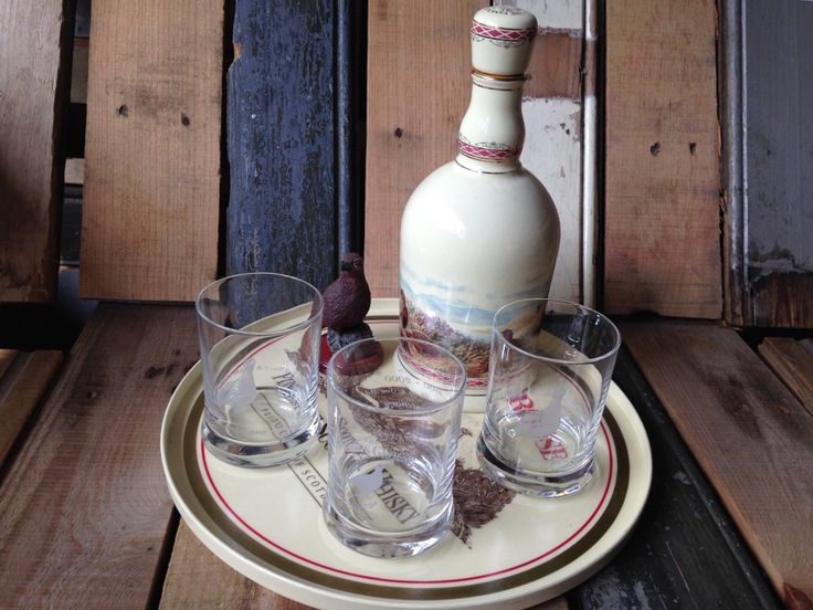 Famous Grouse Whisky set 1980 Scotland – Vintage Man Stuff