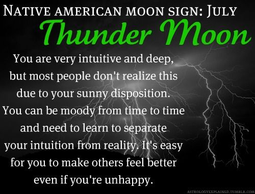 Native American Moon Sign: July Thunder Moon
