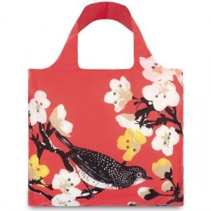 LOQI shopping bag - prima cherry - Biome Eco Stores