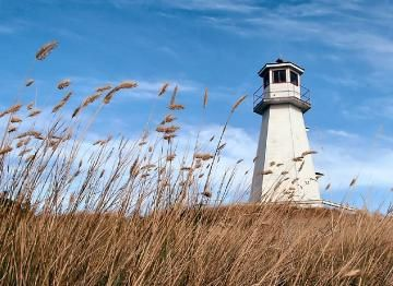 A lighthouse in #Saskatchewan!  It's located near the village of Cochin and stands 11.5 meters tall (38 ft).