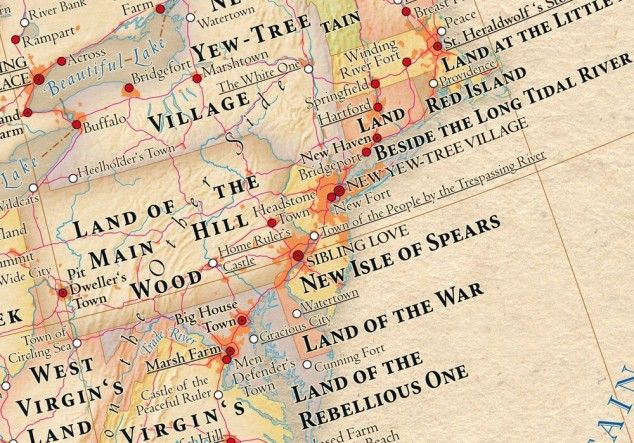 United States map with place names replaced by original meanings [6 pictures]