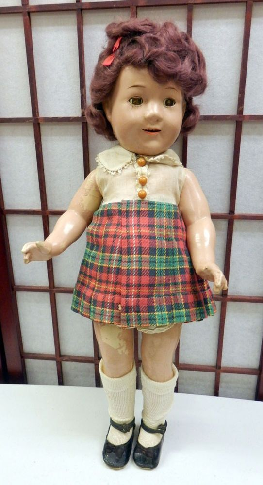 """VTG JANE WITHERS 20"""" DOLL COMPOSITION Open Mouth Madame Alexander"""