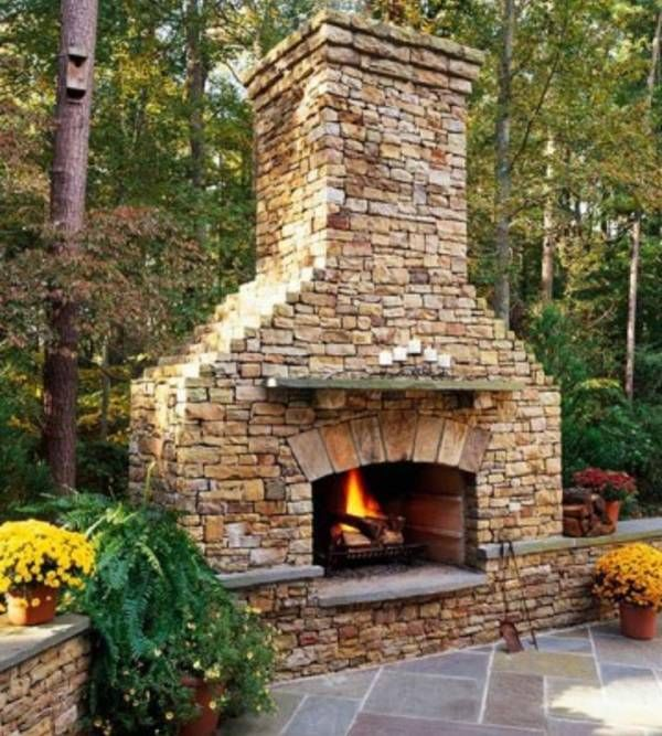 1000+ Ideas About Outdoor Fireplaces On Pinterest