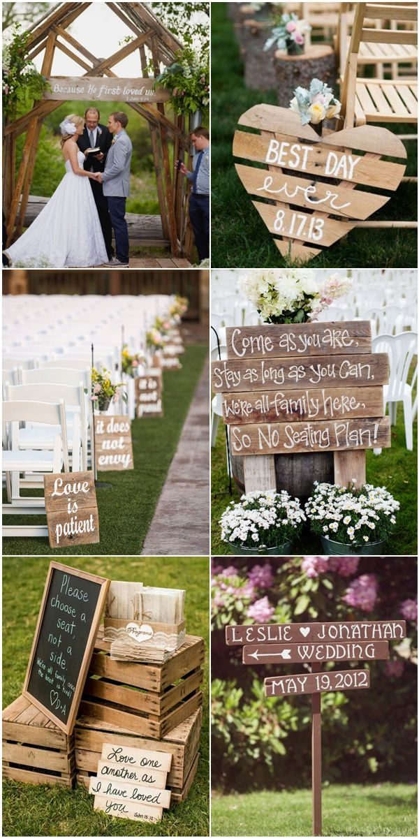 Wood Pallet Themed Country Wedding Ideas