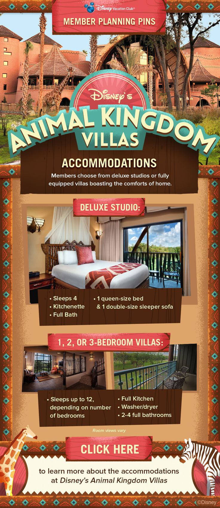 Plan your next Disney Vacation Club vacation with these Member Planning Pins!