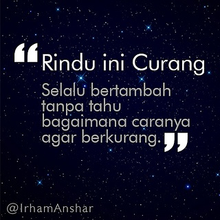 rindu ini curang by Irham Anshar, via Flickr