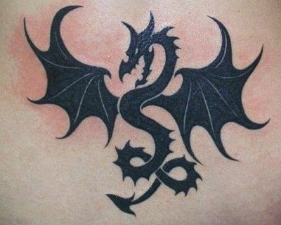 Dragon Tattoos for Women | ... beautiful and attractive black dragon tattoo design for men and women