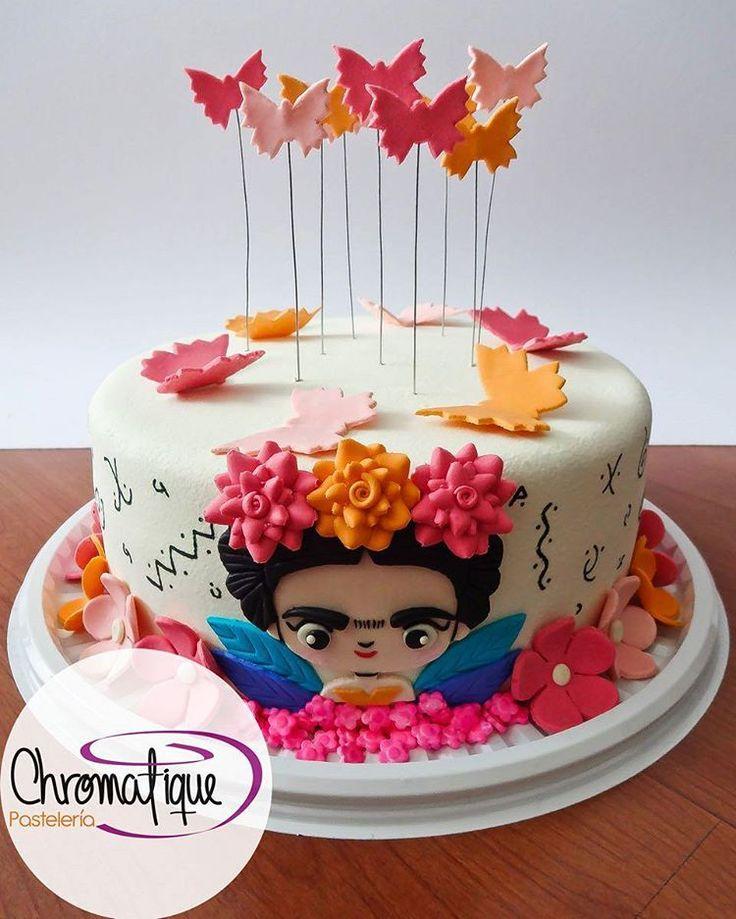 Frida Kahlo's cake (Torta de Frida Kahlo) https://www.facebook.com/chromatiquepasteleria/