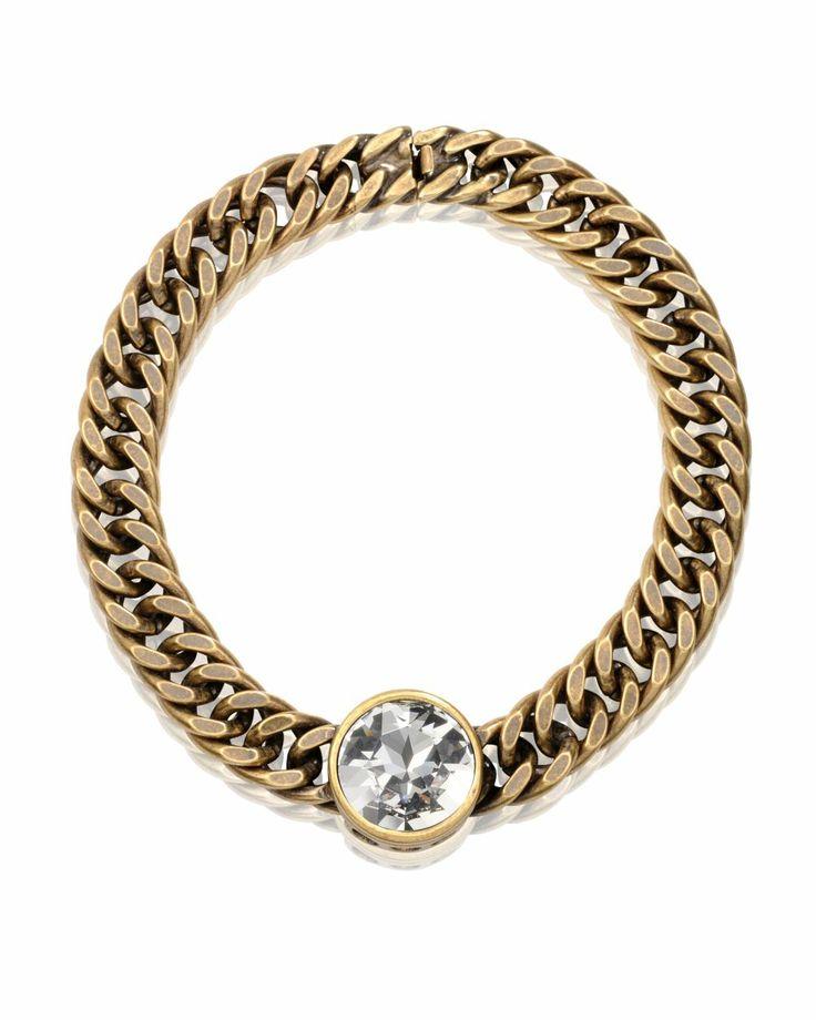 "Bronze plated ""HOLLY"" necklace with Swarowski crystal stone. www.nataliebdesigns.com"