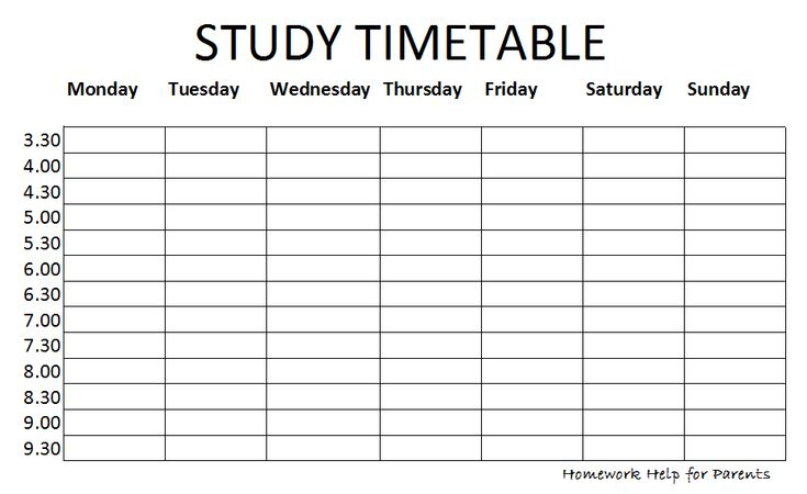How To Create A Revision Timetable And Revise Effectively  Create