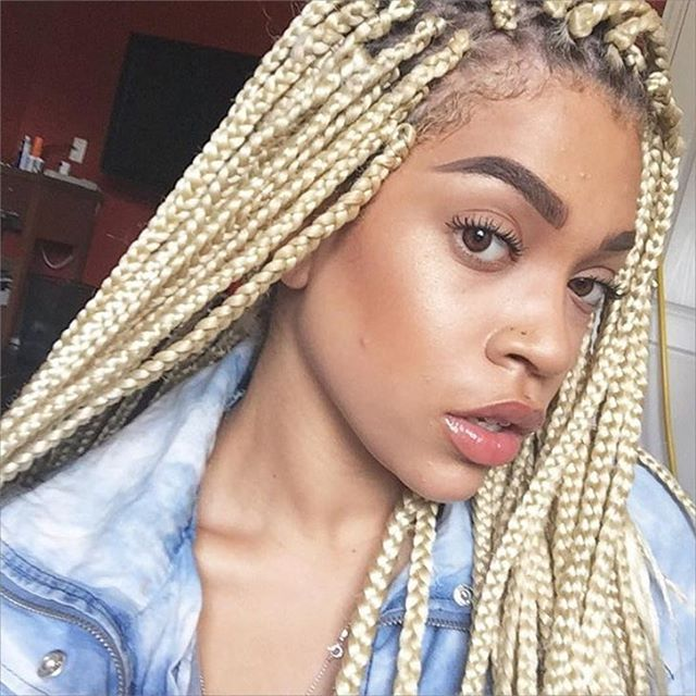 @wildamore loving her blonde braids