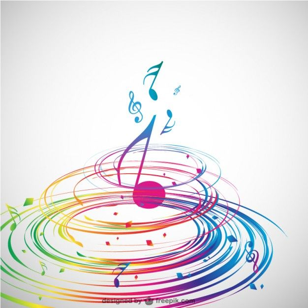 Conception de la musique en spirale abstrait de vecteur Vecteur gratuit