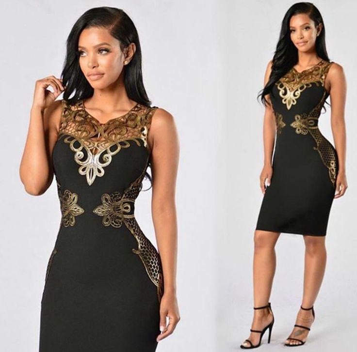 2017 Summer Dress V-Neck Geometric Appliques Robe Vintage Club Sexy Dresses Ladies Bodycon Dress Plus Size Womens Clothing