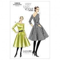 Misses Dress Vogue Pattern 8615.