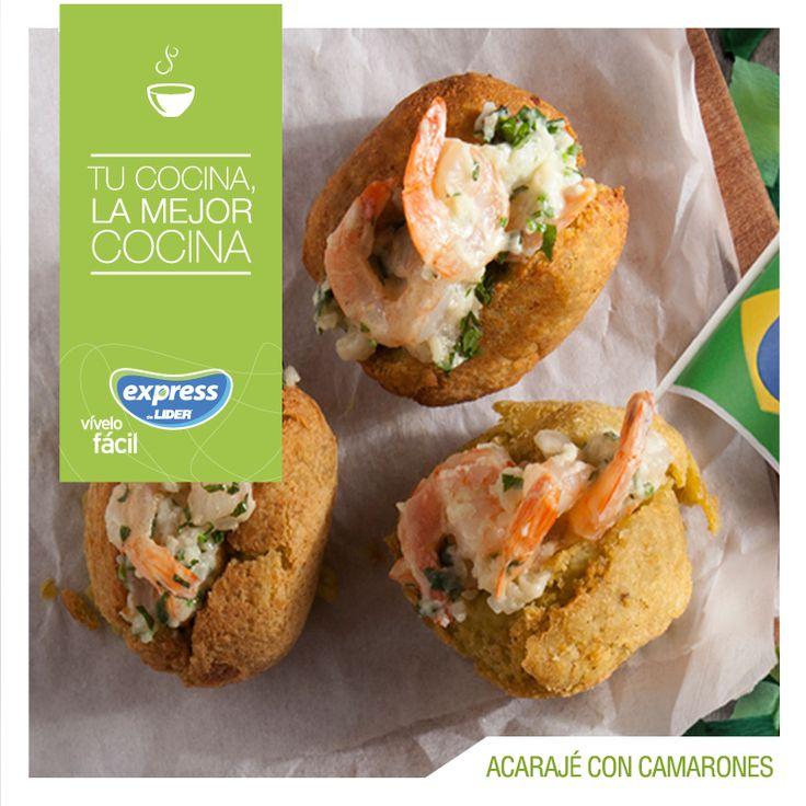 Brasil: Acarajé con camarones #Recetario #Receta #RecetarioExpress #Lider #Food #Foodporn #Brasil #BrasilianFood #Acarajé