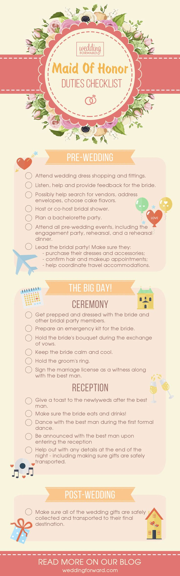 Essential Bridesmaid Duties Andamp; Responsibilities ❤ See more: http://www.weddingforward.com/bridesmaid-duties-responsibilities/ #weddings