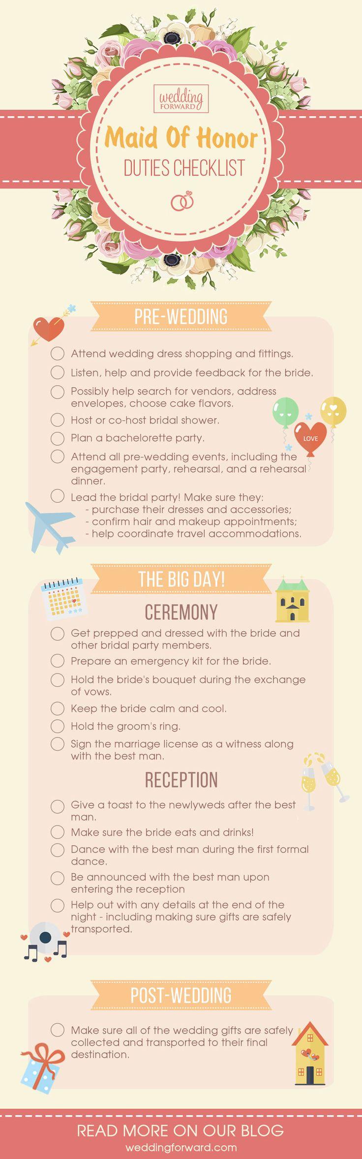 Best 25+ Bridesmaid checklist ideas on Pinterest | Wedding ...