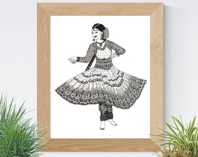 Zentangle Inspired Bharatanatyam Dancer Art Print Etsy Dancers Art Art Dance Art Drawing