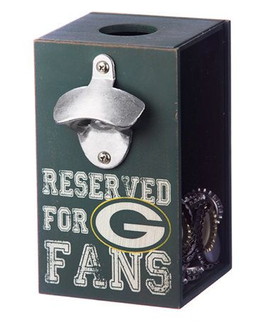 Look what I found on #zulily! Green Bay Packers Bottle Opener Cap Caddy #zulilyfinds