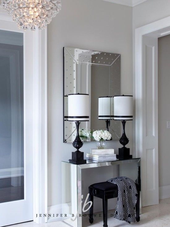 Small Mirrored Foyer Table : Best foyer mirror ideas on pinterest console table
