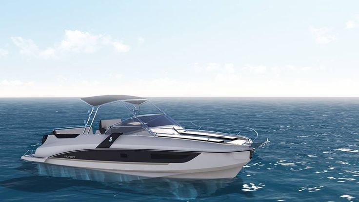 The SUNdeck version of the Flyer8.8 is the latest model in the #Beneteau #Flyer range.   It will be shown exclusively to the general public at the upcoming #Cannes Yachting Festival (8-13 Sept).