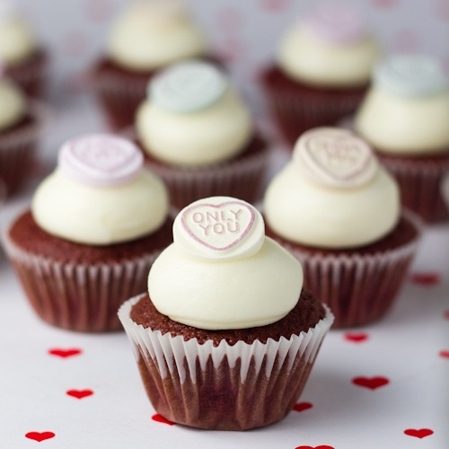 Mini cupcakes de Red Velvet para San Valentín (Objetivo Cupcake Perfecto)