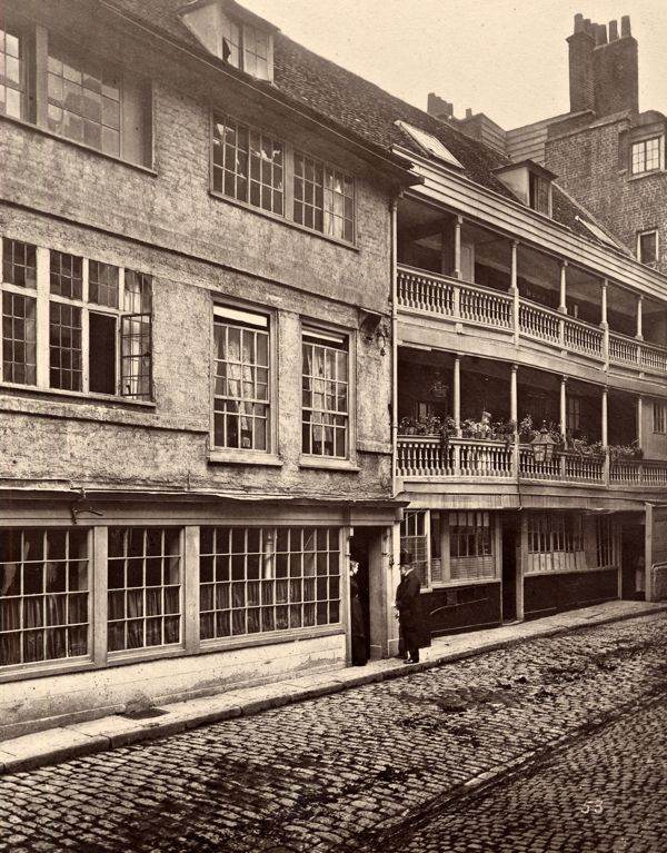 'The George' is still here today - the last of London's coaching inns, preserved by the National Trust