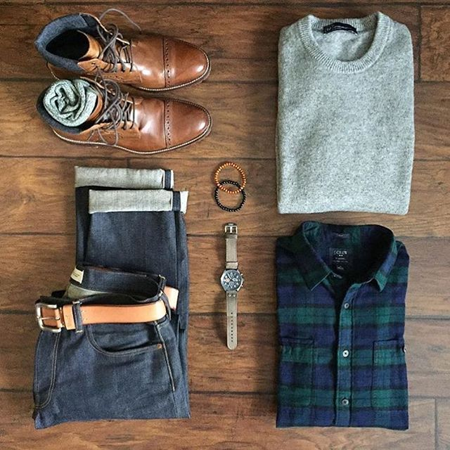 Sunday Threads ⏩⏩ Follow @dadthreads @stylishmanmag & @chrismehan with the welcome outfit proposals Flannel Shirt: @jcrew Denim: @gap Sweater: @gap Boots: @johnstonmurphy