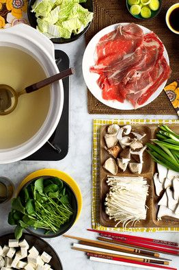 Shabu shabu. Totally buying a grill so we can make this at home!