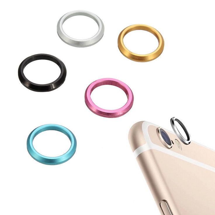 Unique Fashion Rear Back Camera Lens Metal Ring Protective Camera Protector Case Cover For iPhone 6S