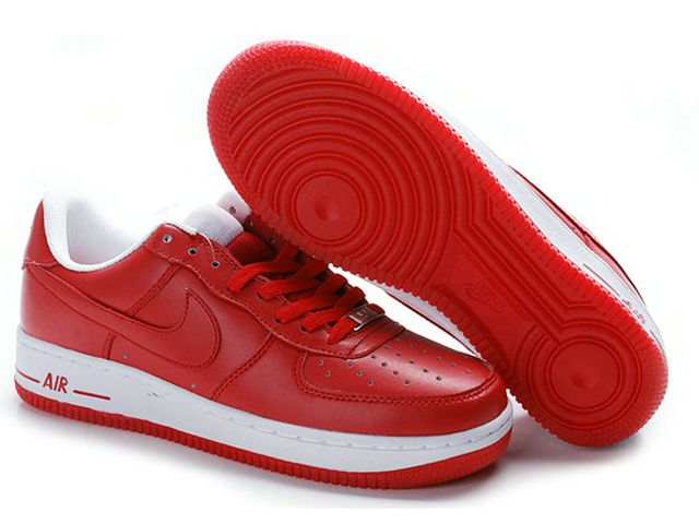 Chaussures Nike Air Force One Blanc/ Rouge [nike_10541] - €56.86 : Nike