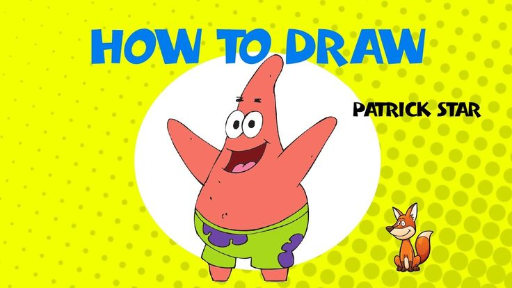 How to draw Patrick from Spongebob Squarepants - STEP BY STEP GUIDE - DRAWING TUTORIAL GUIDE