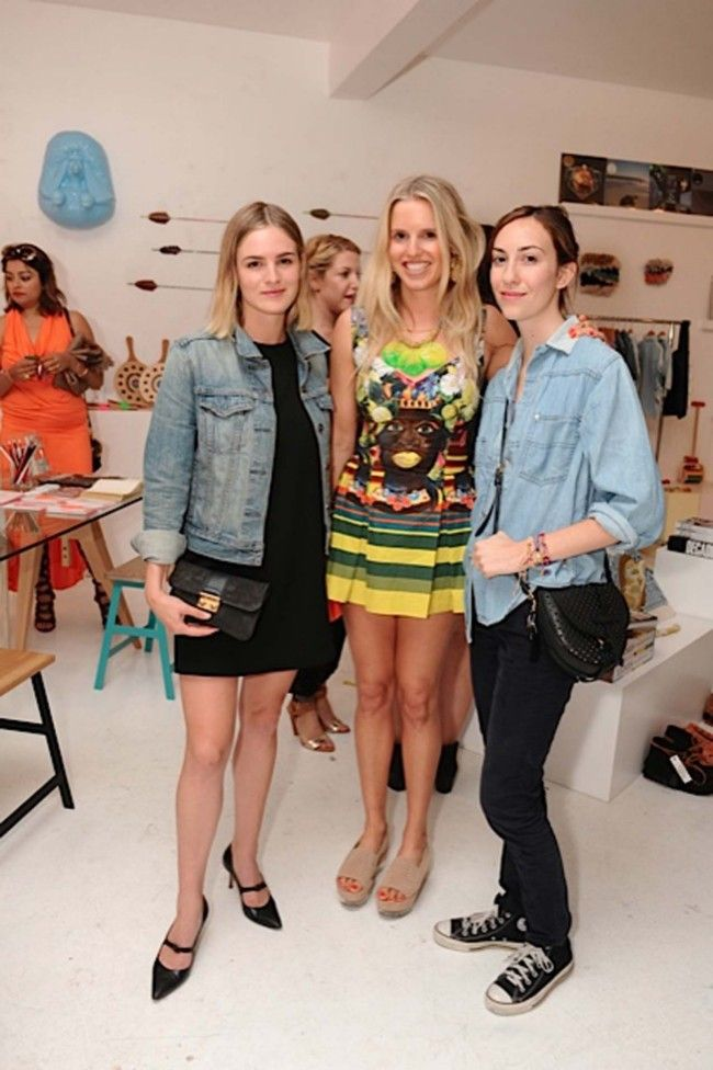 Natalie Love, Lucy Folk and Gia Coppola at our TROPICALISMO launch in LA, via Vogue Australia.