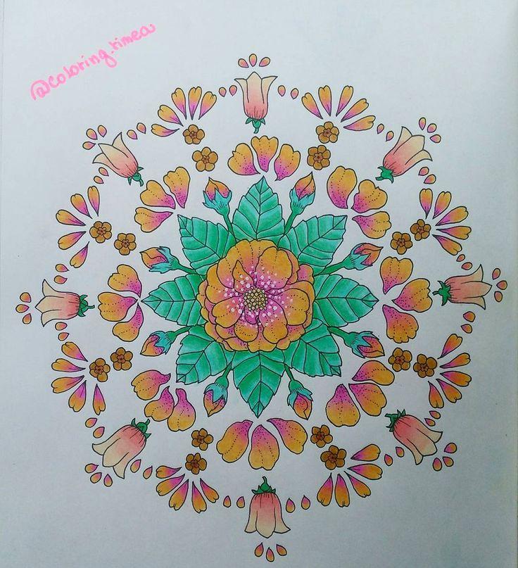 """8 To se mi líbí, 1 komentářů – °Rimea° Czech republik (@coloring.rimea) na Instagramu: """"#blomstermandalamålarbok #blomstermandala #coloringbook book #colorist"""""""