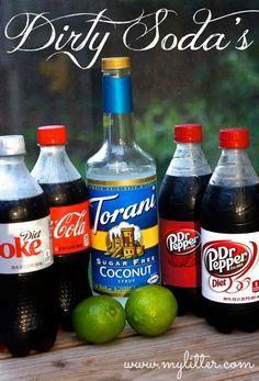Dirty Diet Coke Diet Dr. Pepper Soda Recipe